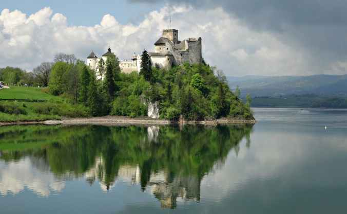 castle near body of water