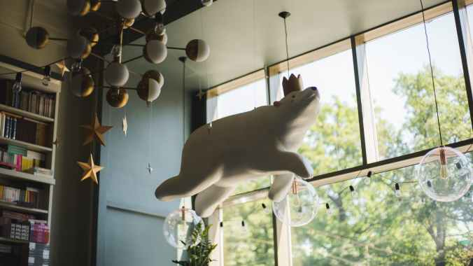 white polar bear hanging decor